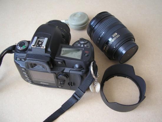 Mijn huidige spiegelreflexcamera, de Nikon D70-S.