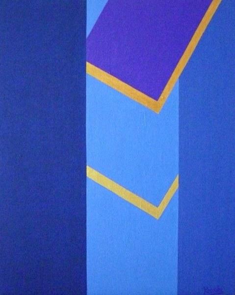 Een van Renske Cramers schilderijen: Ringen scheiden (2011). (Acryl op doek, 40 x 50 cm.)