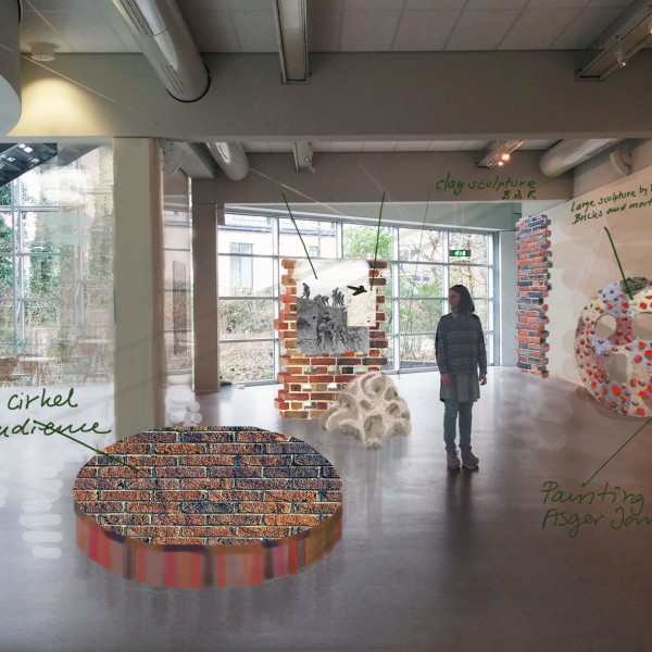 Een deel van de expositie rond Cobra van Banks & Rau.