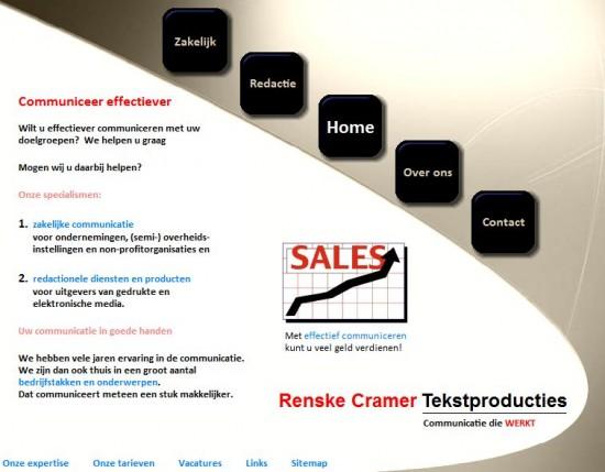 Renske Cramers oude site Tekstproducties