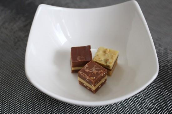Wat een heerlijke chocolaatjes... Maar ik probeer ze te vervangen door chocolade met een gezond cacaogehalte.