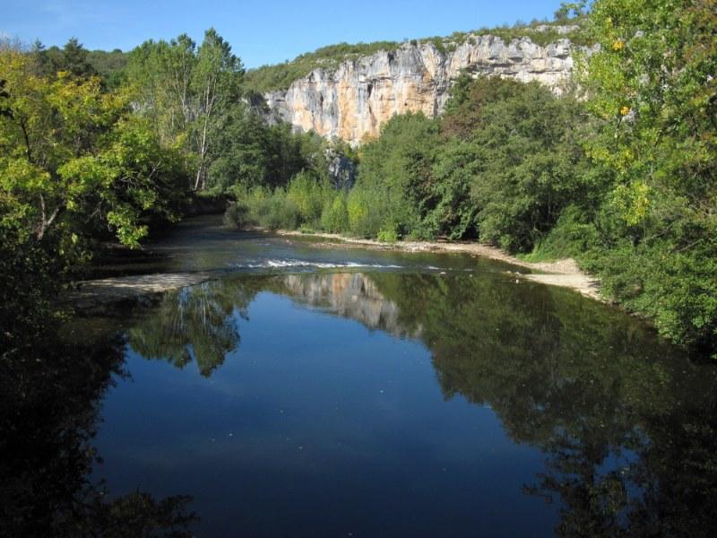 Renske Cramers foto van de rivier de Lot (Frankrijk) op een mooie herfstmiddag