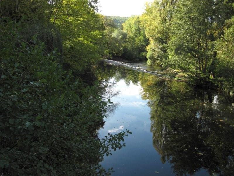 Renske Cramers foto van de rivier de Lot (Frankrijk) op een mooie herfstdag