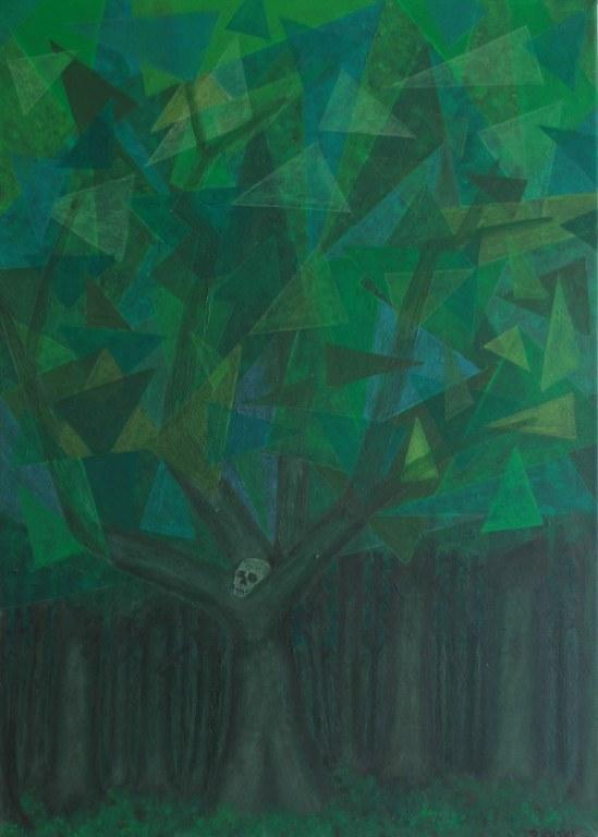Een van Renske Cramers schilderijen: Memento mori