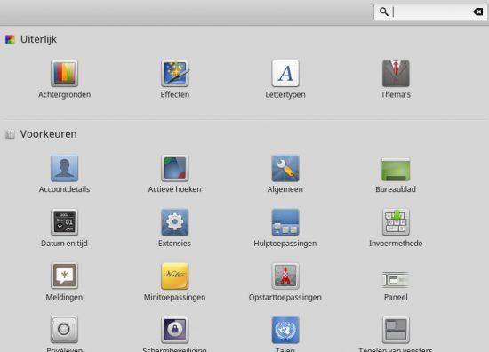 Het uiterlijk en gedrag van Linux Mint zijn snel en makkelijk naar je hand te zetten, blijkt uit deze schermafdruk..