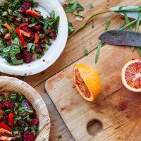 Renske Cramer Creatief foto van gezonde salades bij artikel over gezond eten en 5 jaar Voedselzandloper