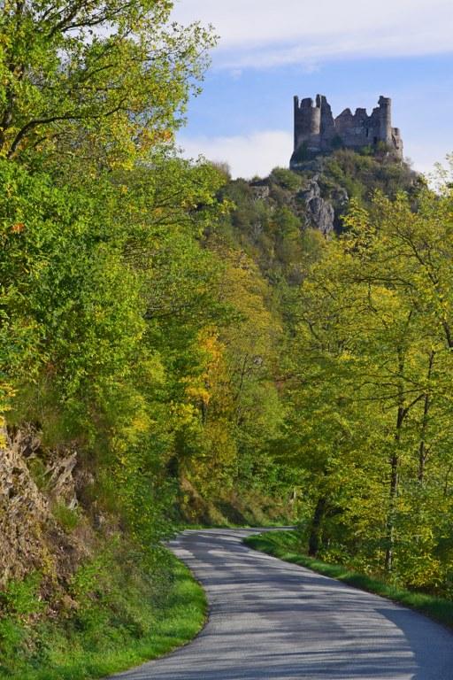 Renske Cramer Creatief foto van een landschap met een kasteel in de Limousin (Frankrijk)