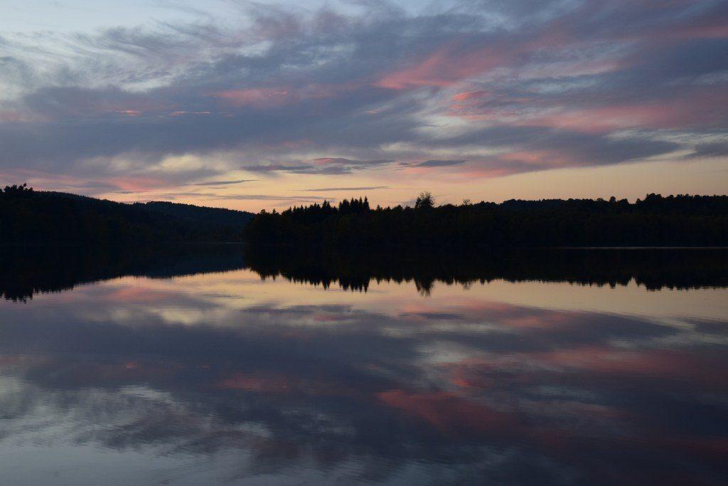 Renske Cramer Creatief foto van een zonsondergang in de Limousin (Frankrijk)