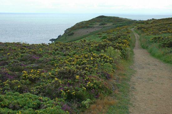 Renske Cramer Creatief reizen Frankrijk Bretagne foto van een wandelpad aan de kust
