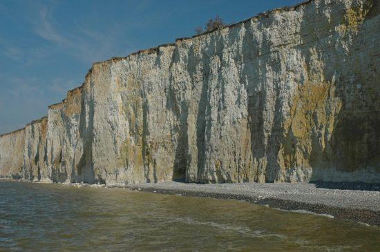 Renske Cramer Creatief foto van de krijtrotsen aan de kust van de Haute-Normandie (Frankrijk)