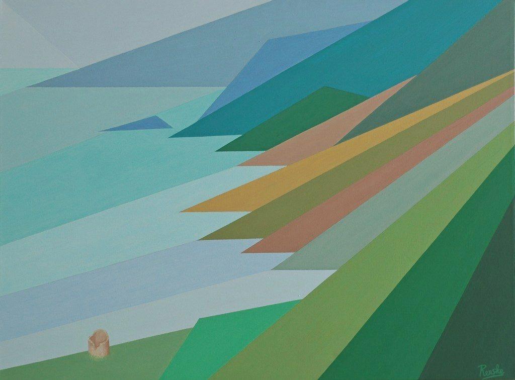 Renske Cramers abstracte schilderij Vervormde herinnering 2743 (Pino) / Distorted memory 2743 (Pino).