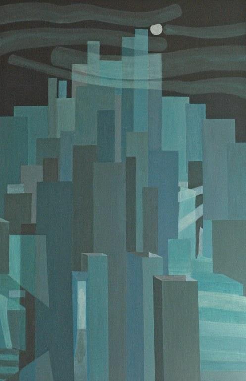 Renske Cramers abstracte schilderij Een laatste schaduw en dan