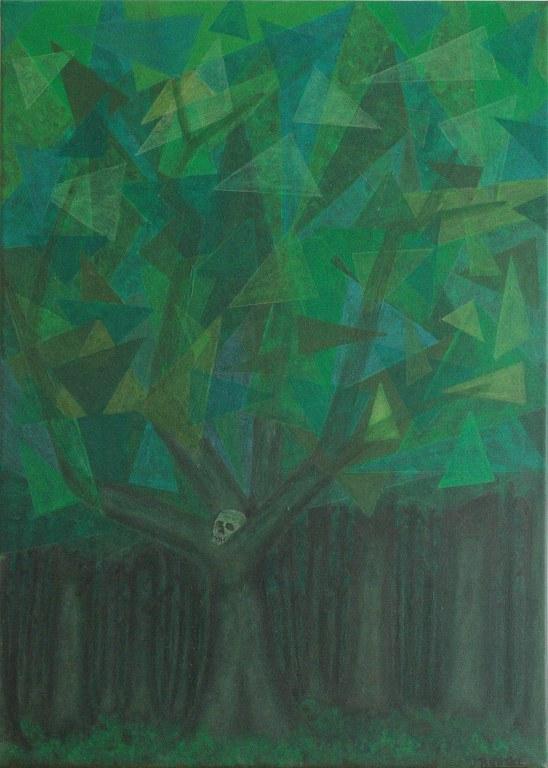 Renske Cramers abstracte schilderij Memento mori (19)