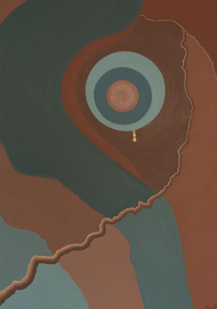 Een van Renske Cramers abstracte schilderijen: Barsten