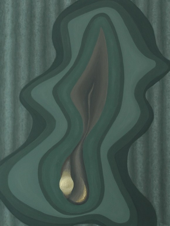 Renske Cramers abstracte schilderij 'Verbroken herinnering 2008/34 (uittreden)'