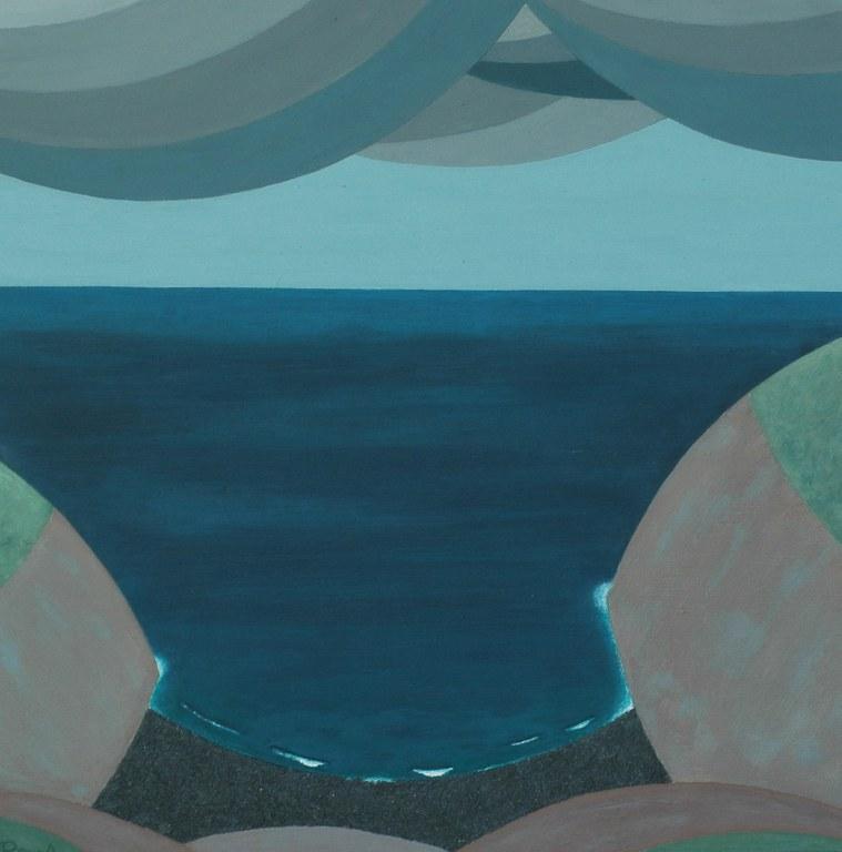 Renske Cramers abstracte schilderij Een stap