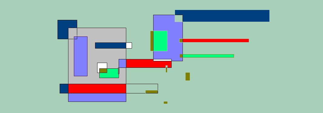 Renske Cramer maakt abstracte schilderijen. Hier ziet u het digitale kunstwerk Een evenwicht.